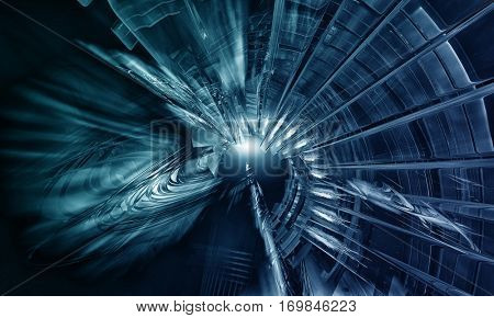 3D rendering of futuristic background