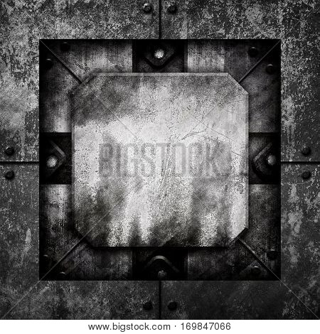 grunge iron template background