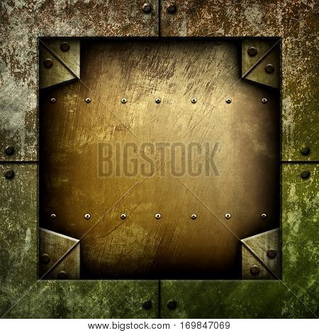 rusty iron template background