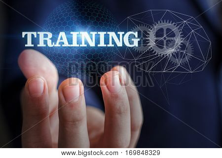Background for business training concept design illustration