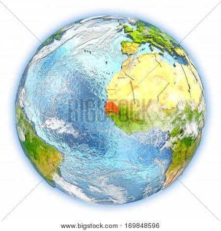 Senegal On Earth Isolated