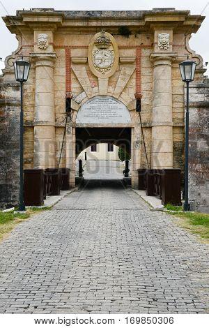The Entrance Door Of La Cabana Fortress At Havana