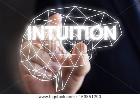Businessman includes intuition concept design illustration banner