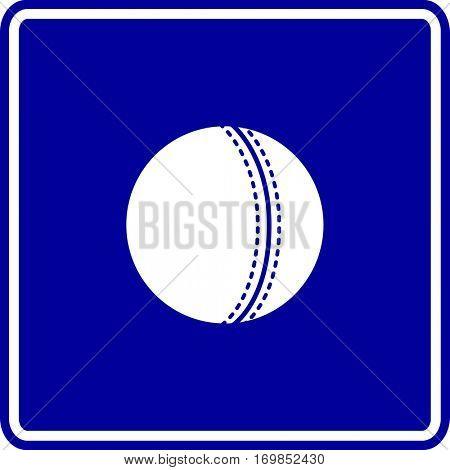 cricket ball sign
