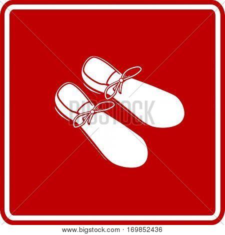 large clown shoes sign