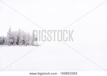 Snowy And Frostbitten Pulpit In The Middle Plains