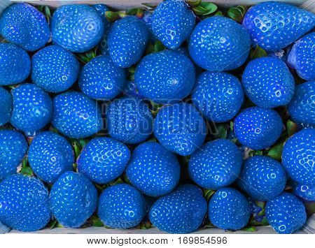 Blue Strawberries Background - Texture