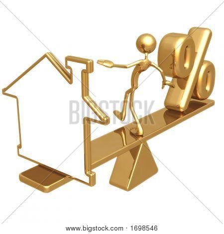 Balancing Blank Home Symbol And Percentage