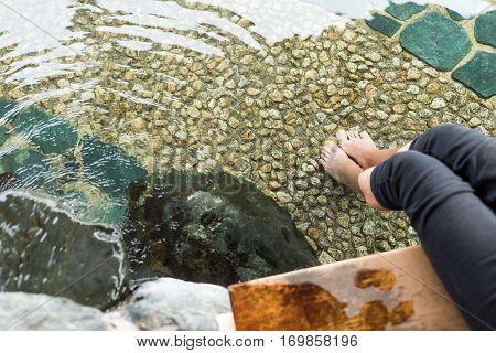 Foot onsen in Japan
