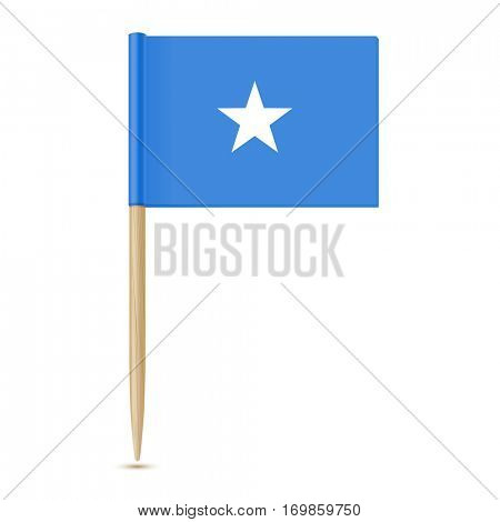 Flag of Somalia. Flag toothpick 10eps