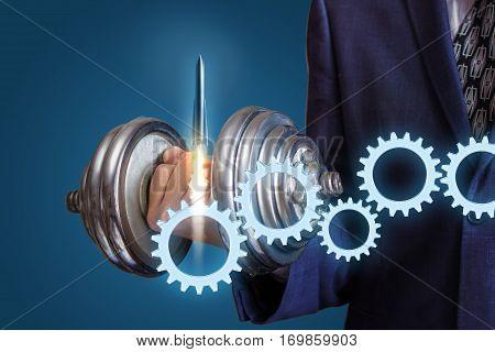Efforts for a start up company concept design illustration banner