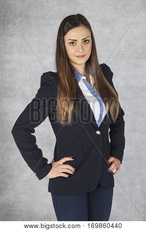 Portrait Of A Young Nice And Confident Businesswoman,