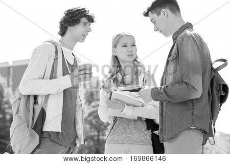 University students conversing at campus
