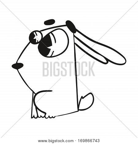 cute cartoon character rabbit crazy vector zoo