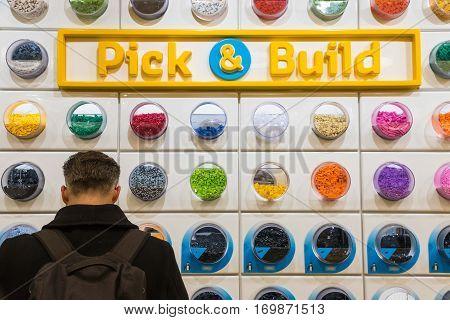 Customer Browsing In Lego Shop