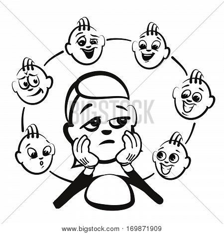 Stick Figure Series Emotions - Admiration