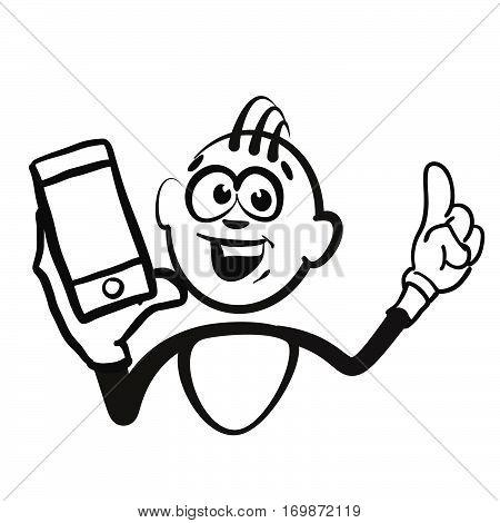 Stick Figure Series Emotions - Mobile Phone Portrait