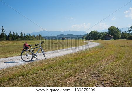 bicycle route through staffelsee moorlands in upper bavaria