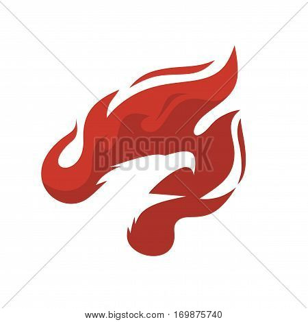silhouette of the head of the Phoenix in fire vector illustration