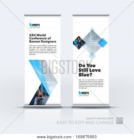 Abstract business vector set of modern roll Up Banner stand design template with grey arrows, triangles for exhibition, fair, show, exposition, expo, presentation, parade, events.