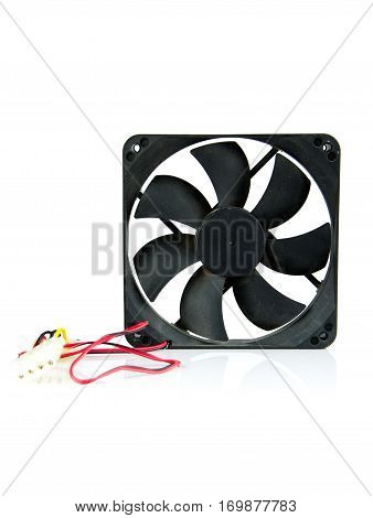 computer case cooling fans on isolated .