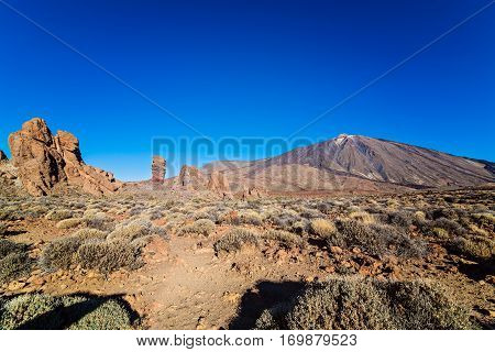 View on el Teide volcano on Tenerife. Canary Islands. Spain