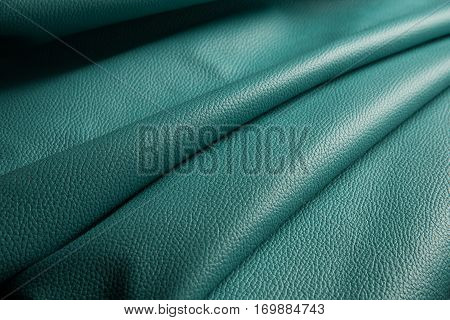 blue leather texture background close up macro.