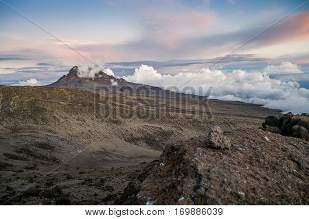 Sunset Over Mawenzi Peak, Mount Kilimanjaro, Tanzania, Africa