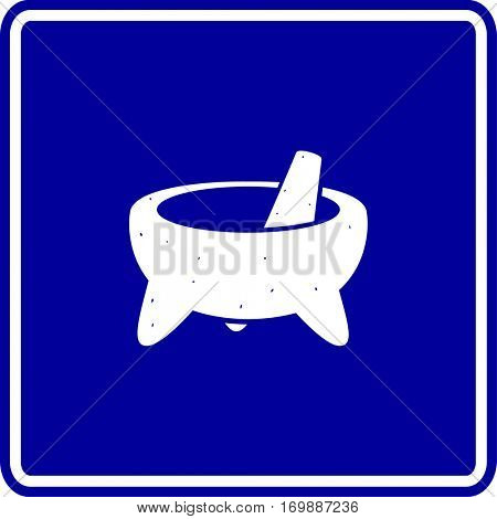 mexican molcajete mortar and pestle sign