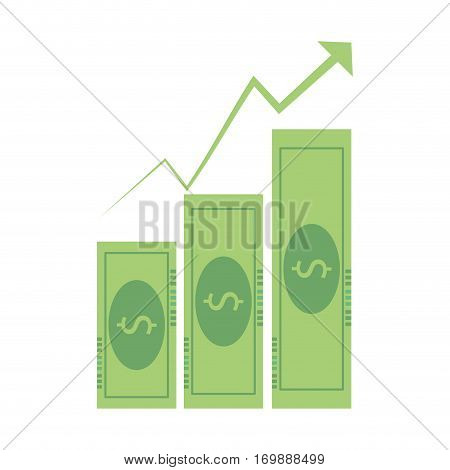 bills business graphic increment icon, vector illustration