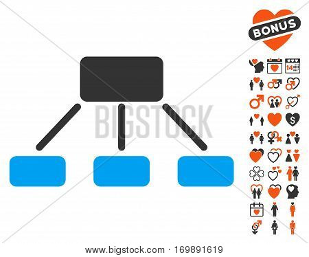 Hierarchy pictograph with bonus amour symbols. Vector illustration style is flat iconic elements for web design app user interfaces. poster