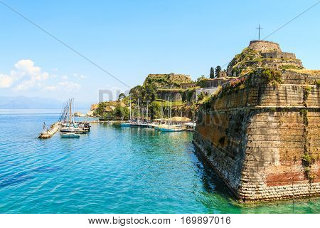 Old Byzantine fortress on Corfu in Greece