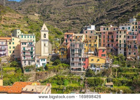 Vernazza  village in Cinque Terre, la spezia, Italy.