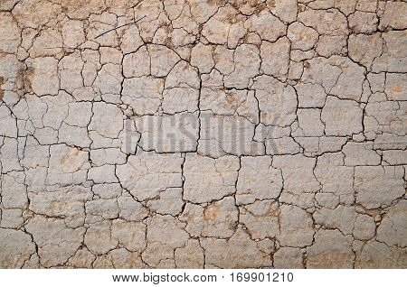 Texture of the old dirt road with cracks