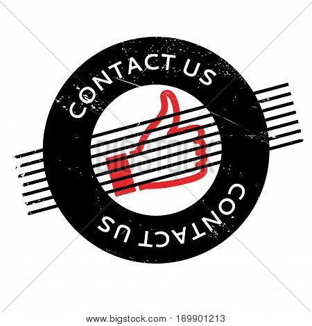 Contact Us rubber stamp. Grunge design with dust scratches. Effects can be easily removed for a clean, crisp look. Color is easily changed.