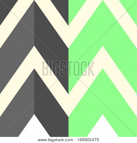 The pattern with gray and light green lines. Vector illustration