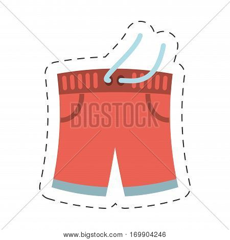 swimming shorts related icon, vector ilustration image