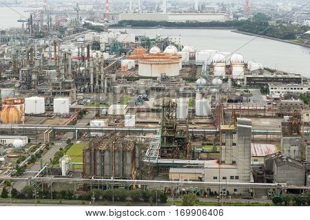 Petrochemical plant in yokkaichi city
