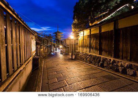 Yasaka Pagoda in Kyoto of Japan