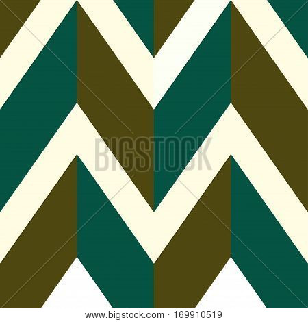 Pattern with white brown and green lines. Vector illustration