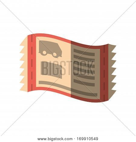 brown ticket related icon, ector illustration image