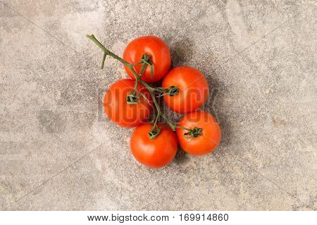 Fresh Red Tomatoes On Stem