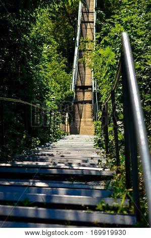 Pedestrian bridge near Saint Sophia Cathedral in Polotsk.