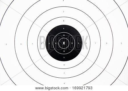 clean and colorful black paper bullseye target