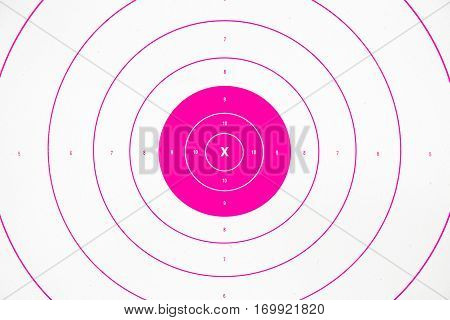 clean and colorful pink paper bullseye target