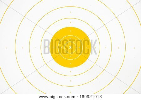 clean and colorful yellow paper bullseye target
