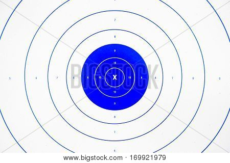 clean and colorful blue paper bullseye target