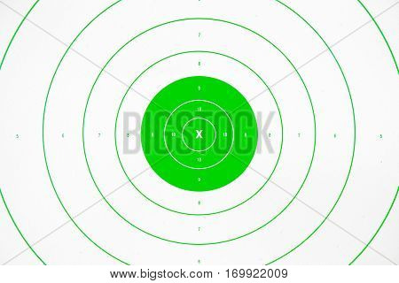 clean and colorful green paper bullseye target
