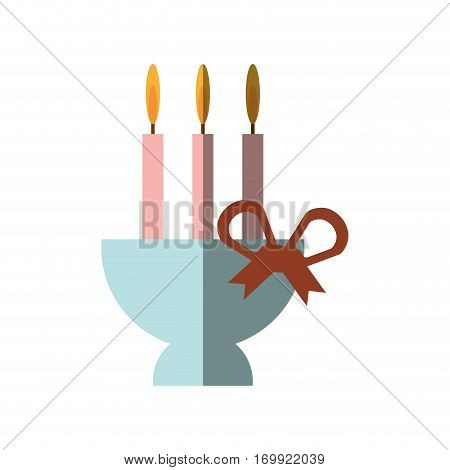 Candle candelabra icon, vector illustration image design