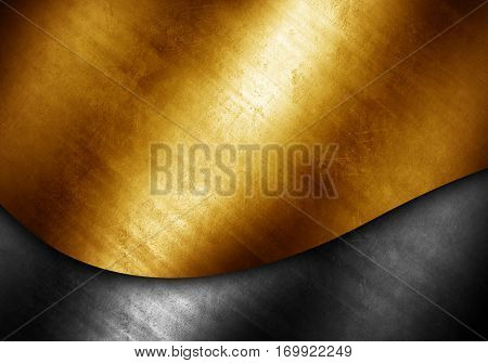 stained metal with curve design background